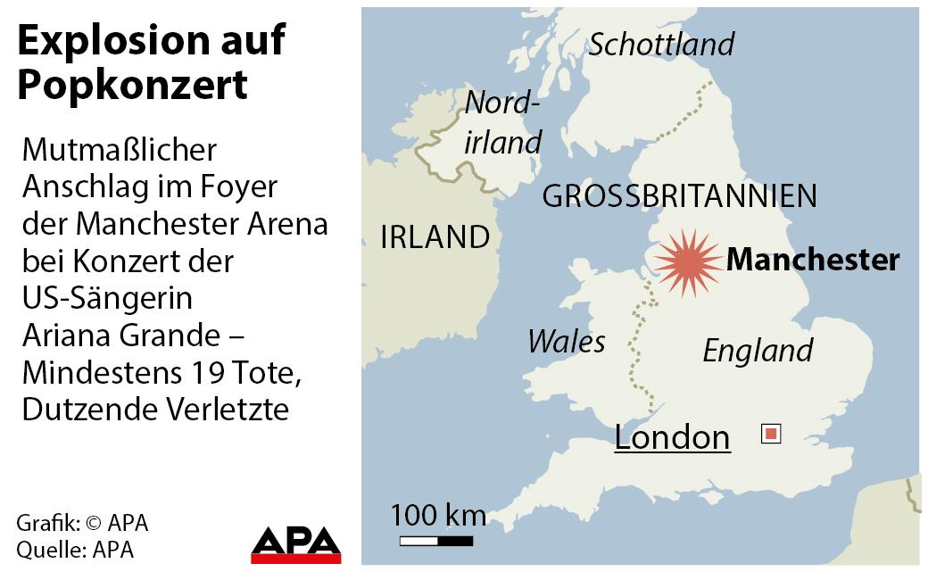 Manchester: 22 Tote bei Terror-Anschlag auf Ariana-Grande-Konzert